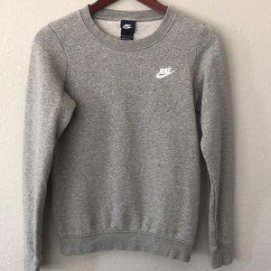 Nike gray crew neck